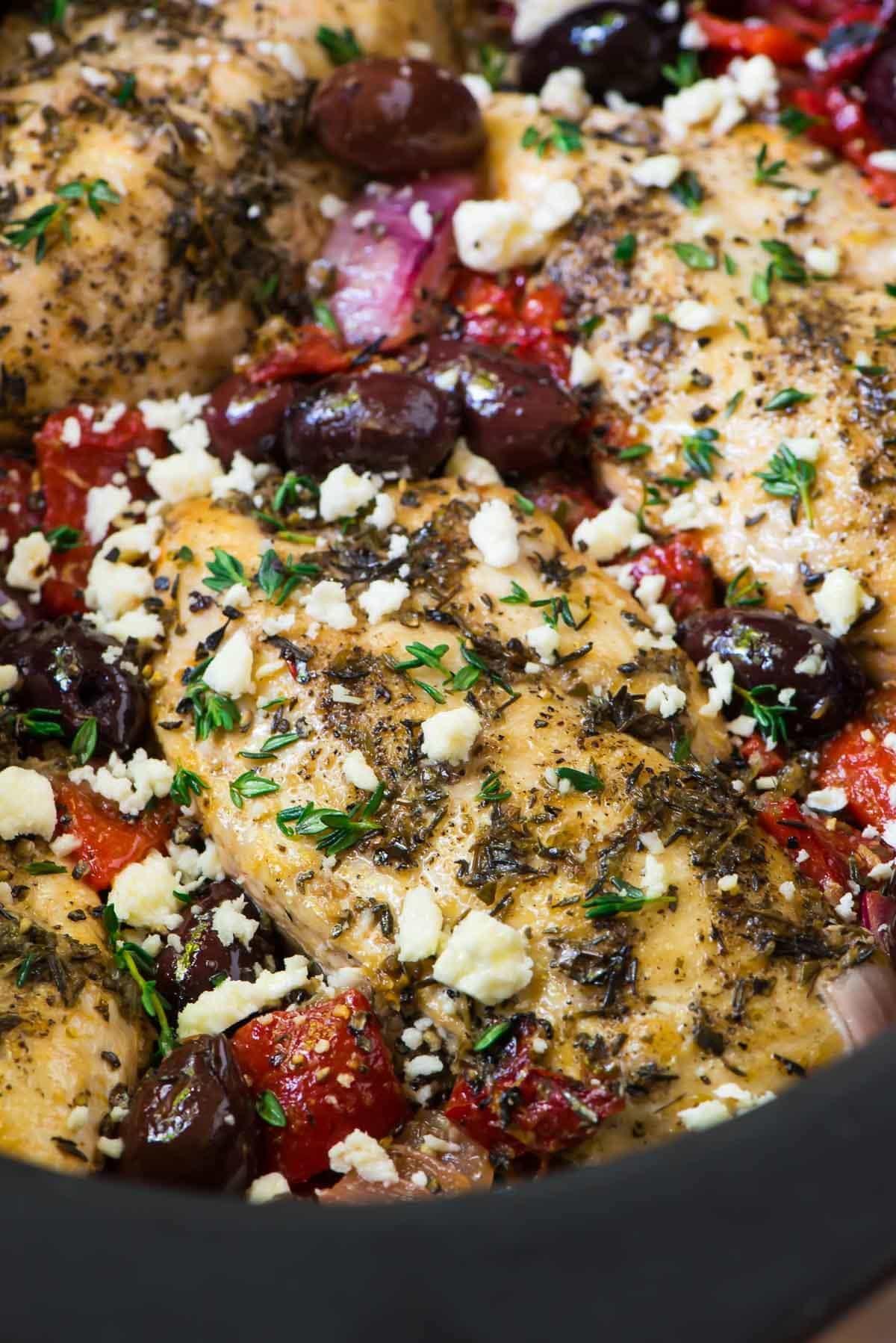 Baked Greek Chicken Recipe  Slow Cooker Greek Chicken Recipe WellPlated