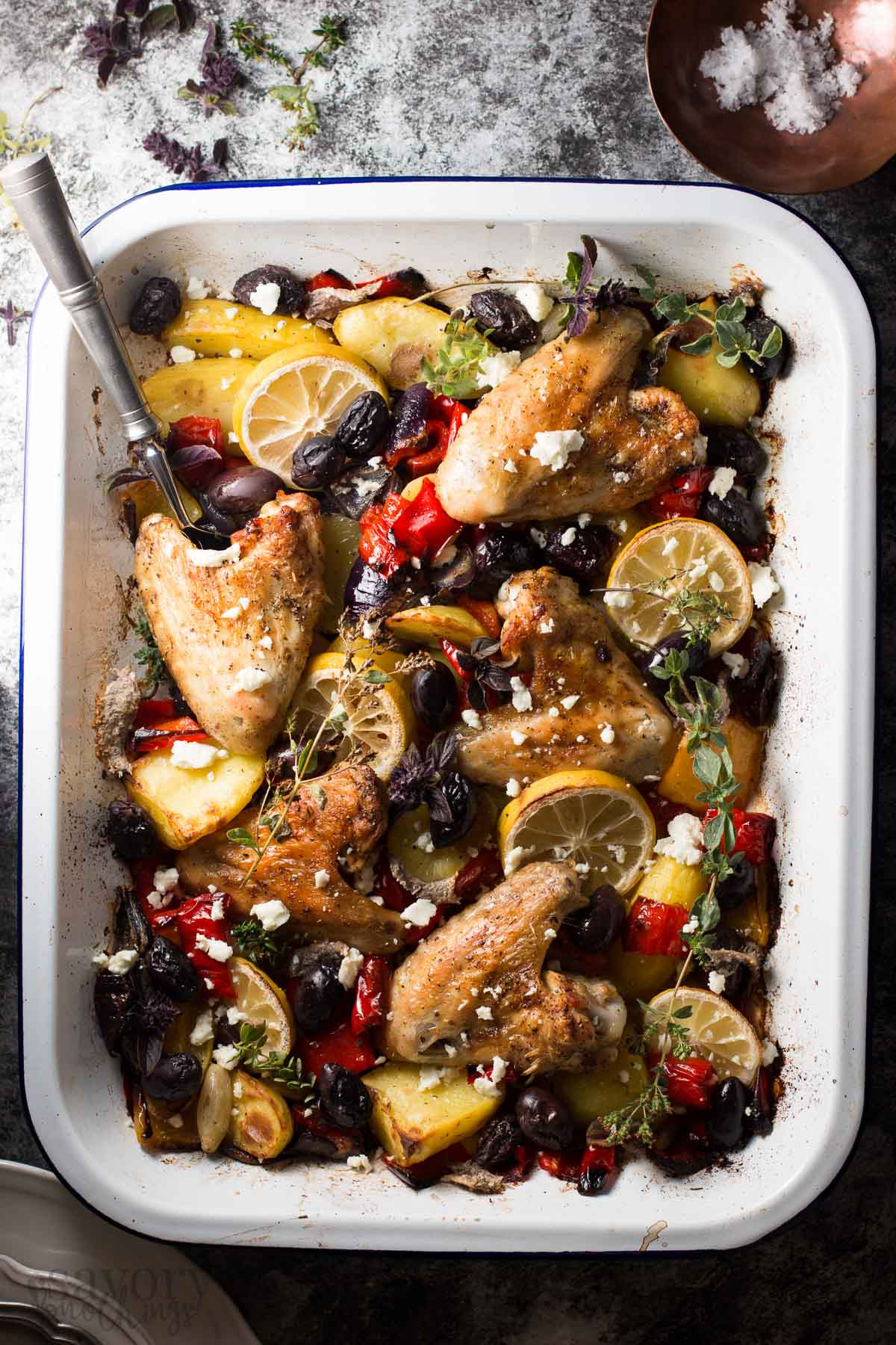 Baked Greek Chicken Recipe  Easy Baked Chicken Dinner Greek Lemon Chicken with Veggies