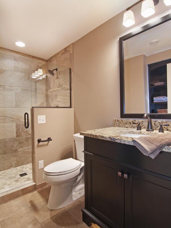 Basement Bathroom Design  Accessible Basement Bathroom Ideas with Tasteful and Less