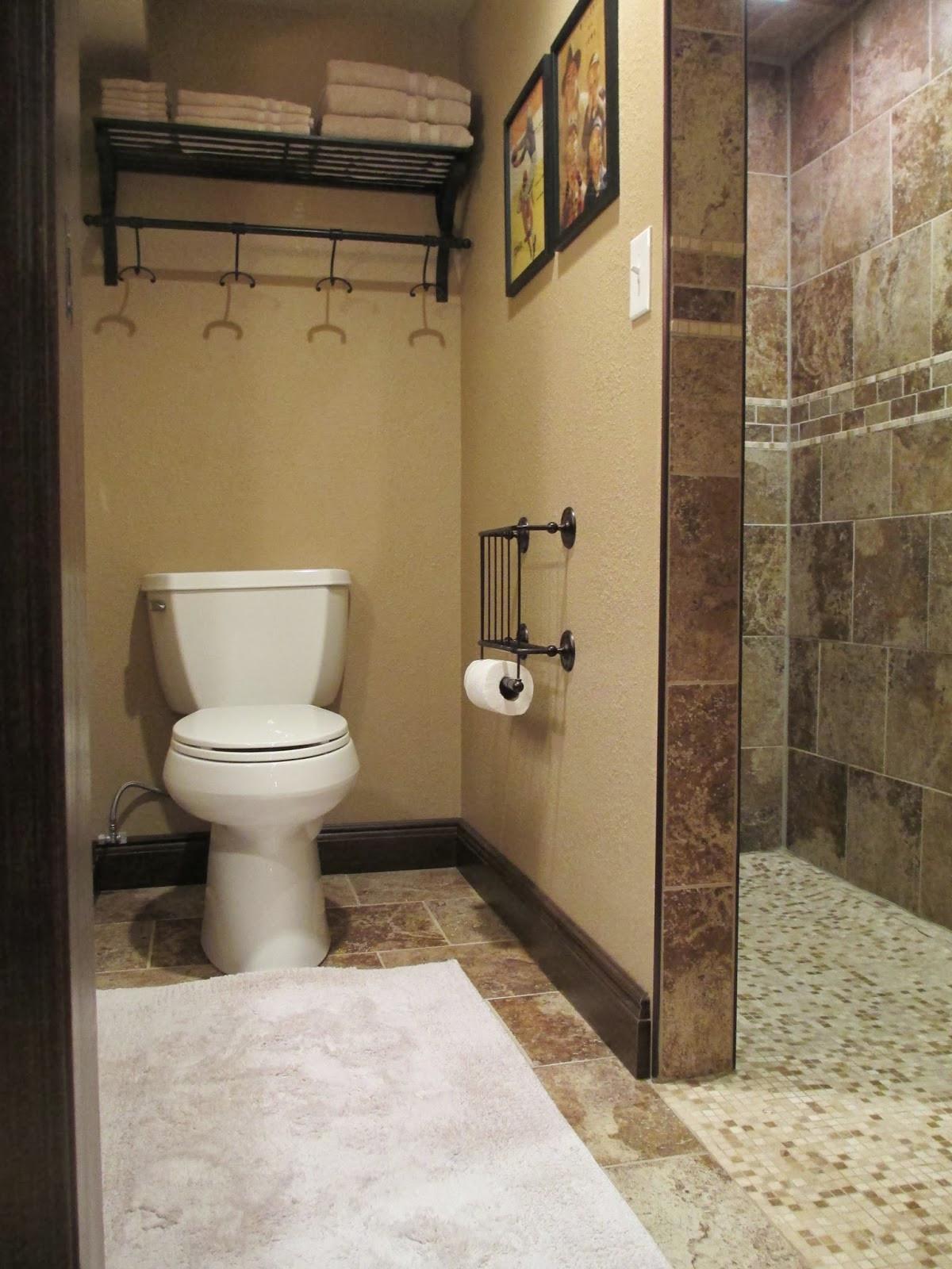 Basement Bathroom Design  KRUSE S WORKSHOP House Tour Basement Family Room Bath