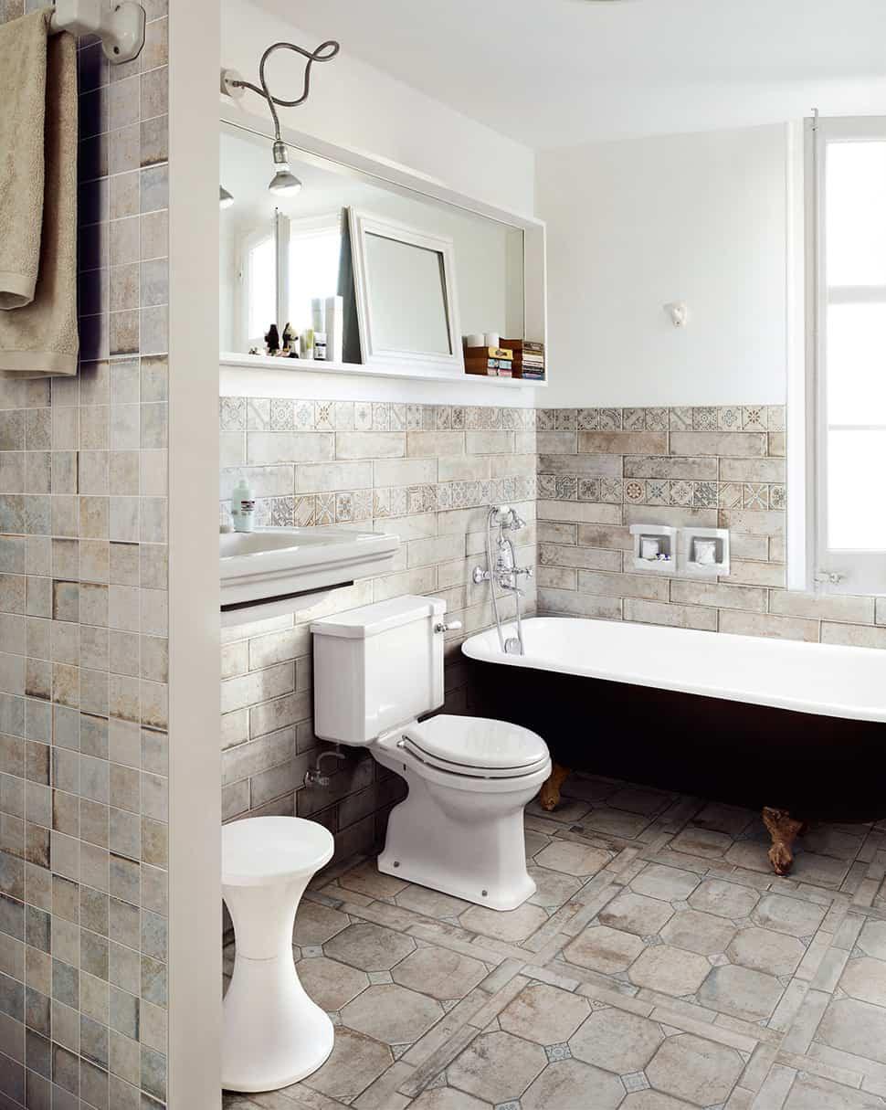 Bathroom Tile Floors  25 Beautiful Tile Flooring Ideas for Living Room Kitchen
