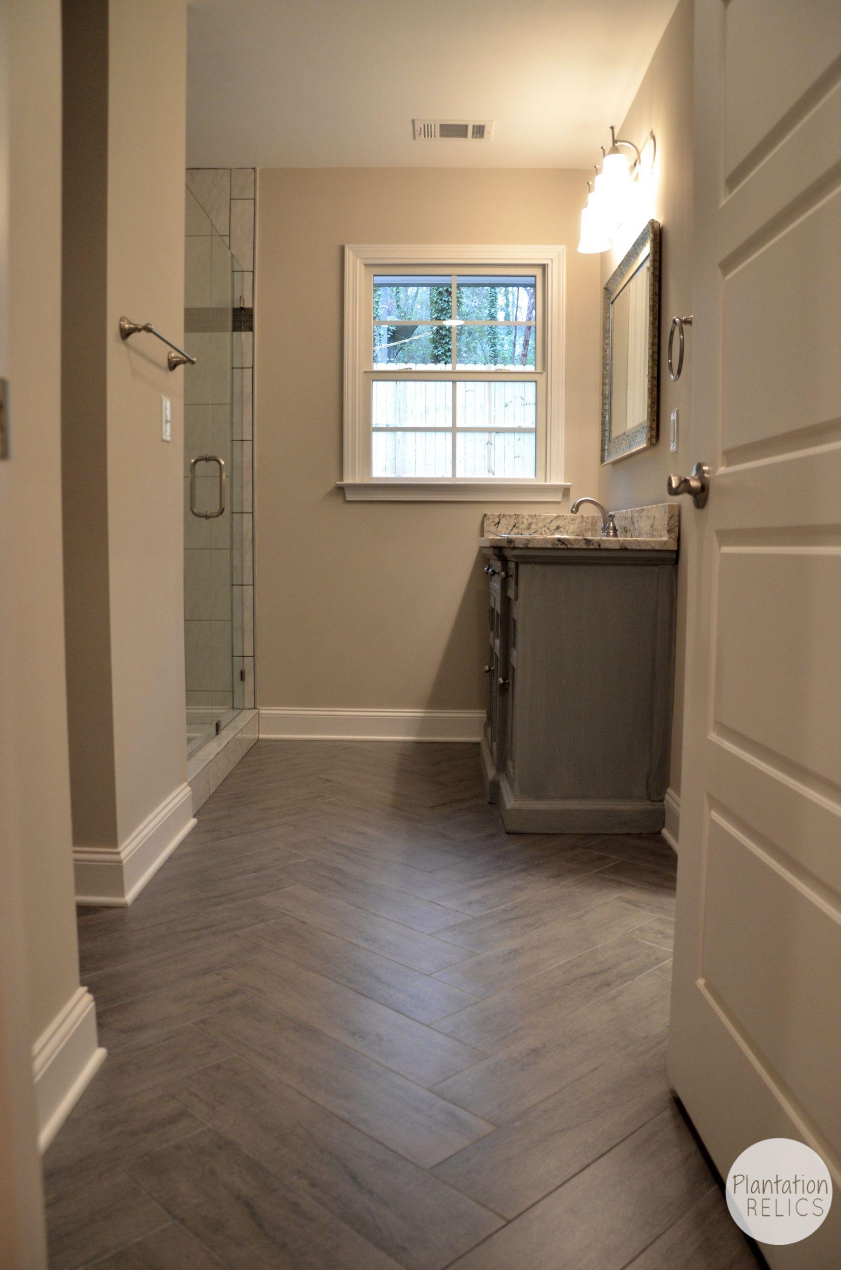 Bathroom Tile Floors  Hall Bathroom AFTER Renovation Flip House 1 Plantation