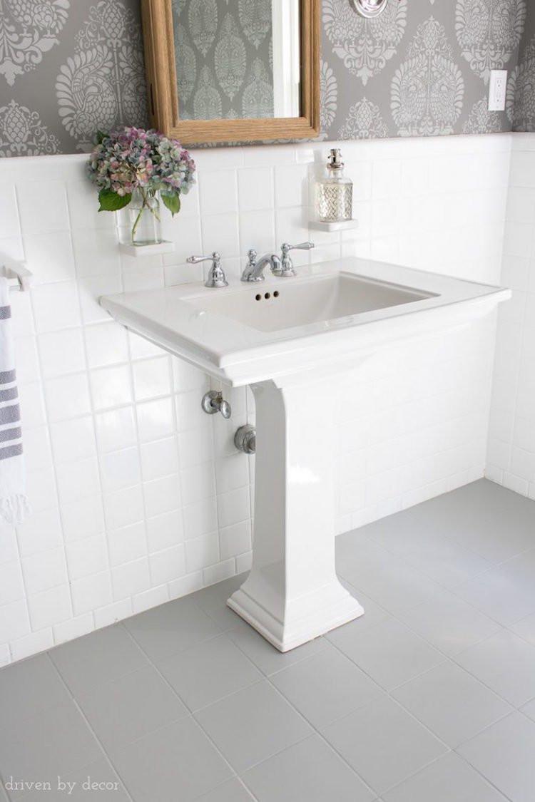 Bathroom Tile Floors  The Best Painted Tile Floors on the Internet Bob Vila
