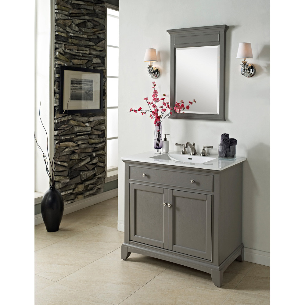 "Bathroom Vanity Designs  Fairmont Designs 36"" Smithfield Vanity Medium Gray"