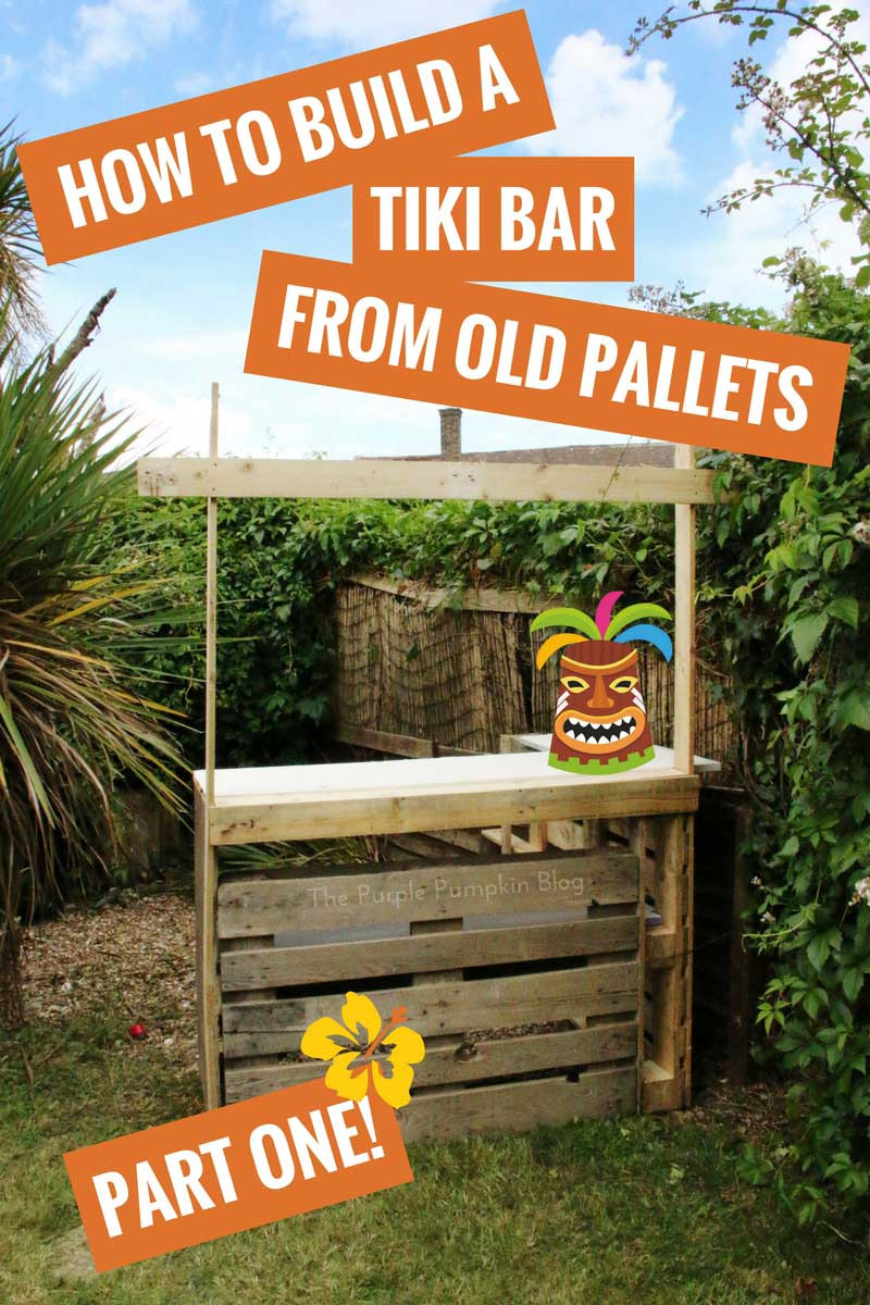Beach Bar Party Ideas  How To Build A Tiki Bar Using Old Pallets Hawaiian Party