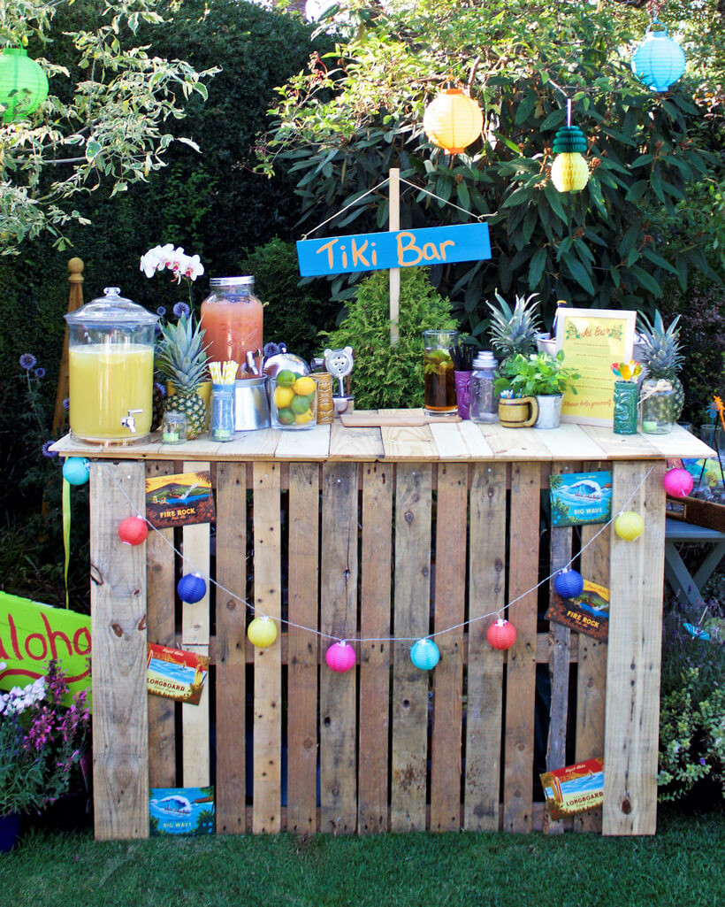 Beach Bar Party Ideas  Awesome Ideas for Wood Pallets Made Bars