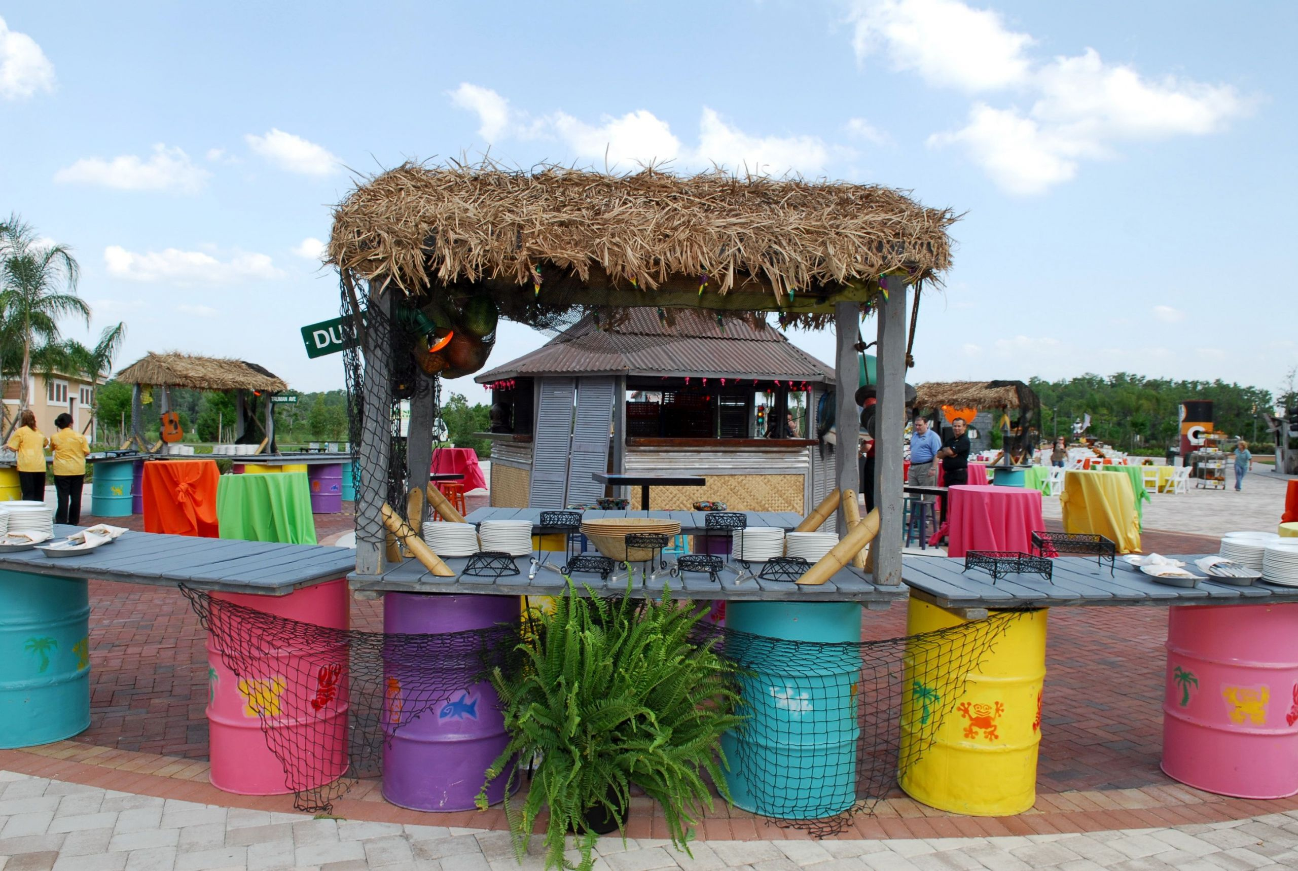 Beach Bar Party Ideas  Bring an Island feel to your beach side event with this