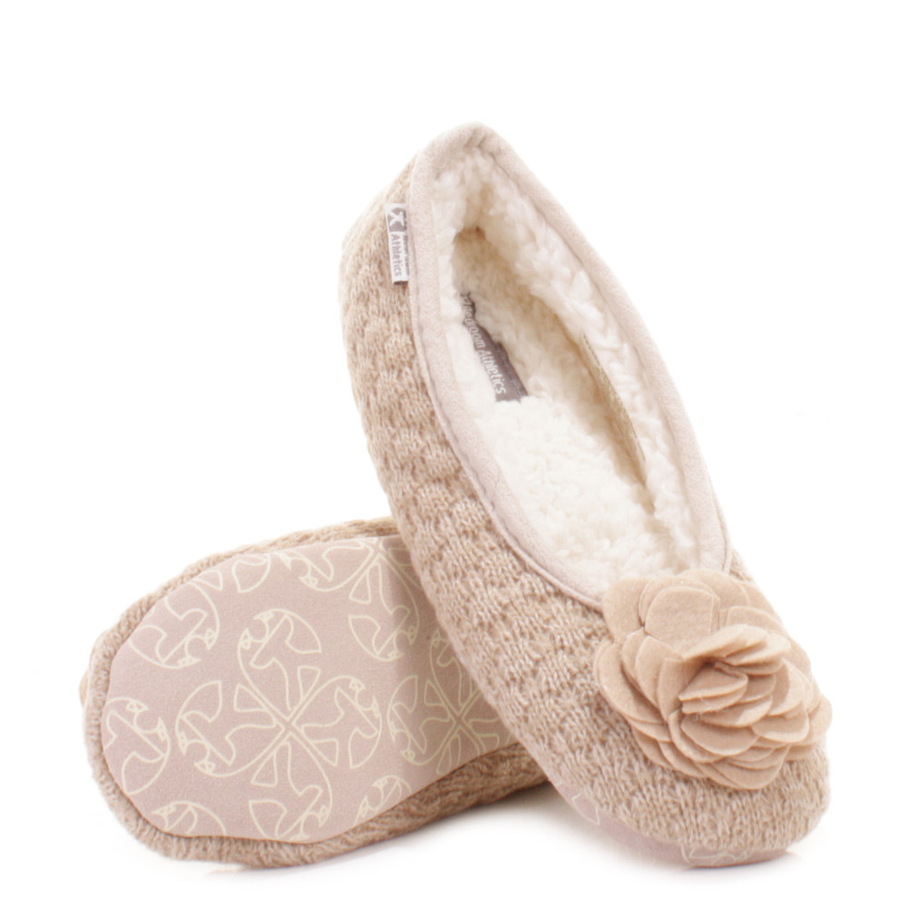 Bedroom Shoes For Womens  WOMENS BEDROOM ATHLETICS CHARLIZE NATURAL FLEECE KNIT