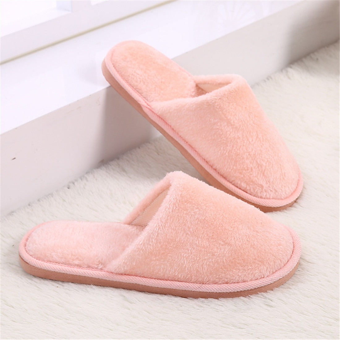 Bedroom Shoes For Womens  OFF Winter Home Women Slippers Indoor Bedroom House