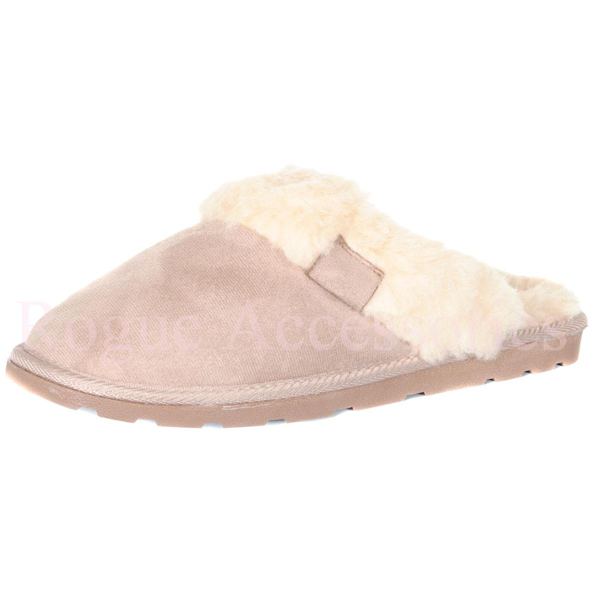 Bedroom Shoes For Womens  La s Fur Lined Slip Mule Slippers Bedroom House Shoes
