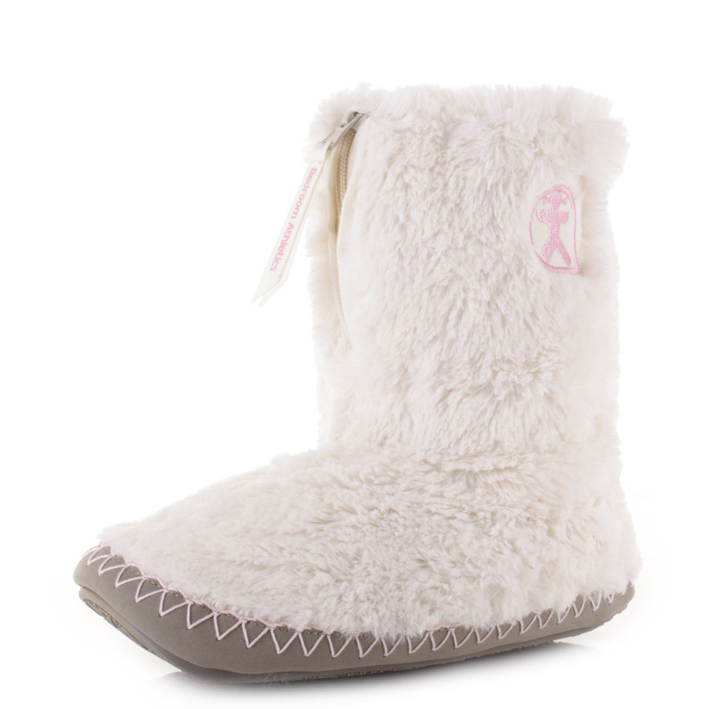 Bedroom Shoes For Womens  Womens Bedroom Athletics Monroe Cream Moonrock Faux Fur