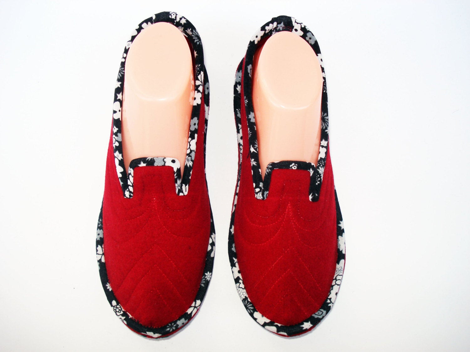 Bedroom Shoes For Womens  Red Womens Slippers Home Slippers House Slippers Bedroom