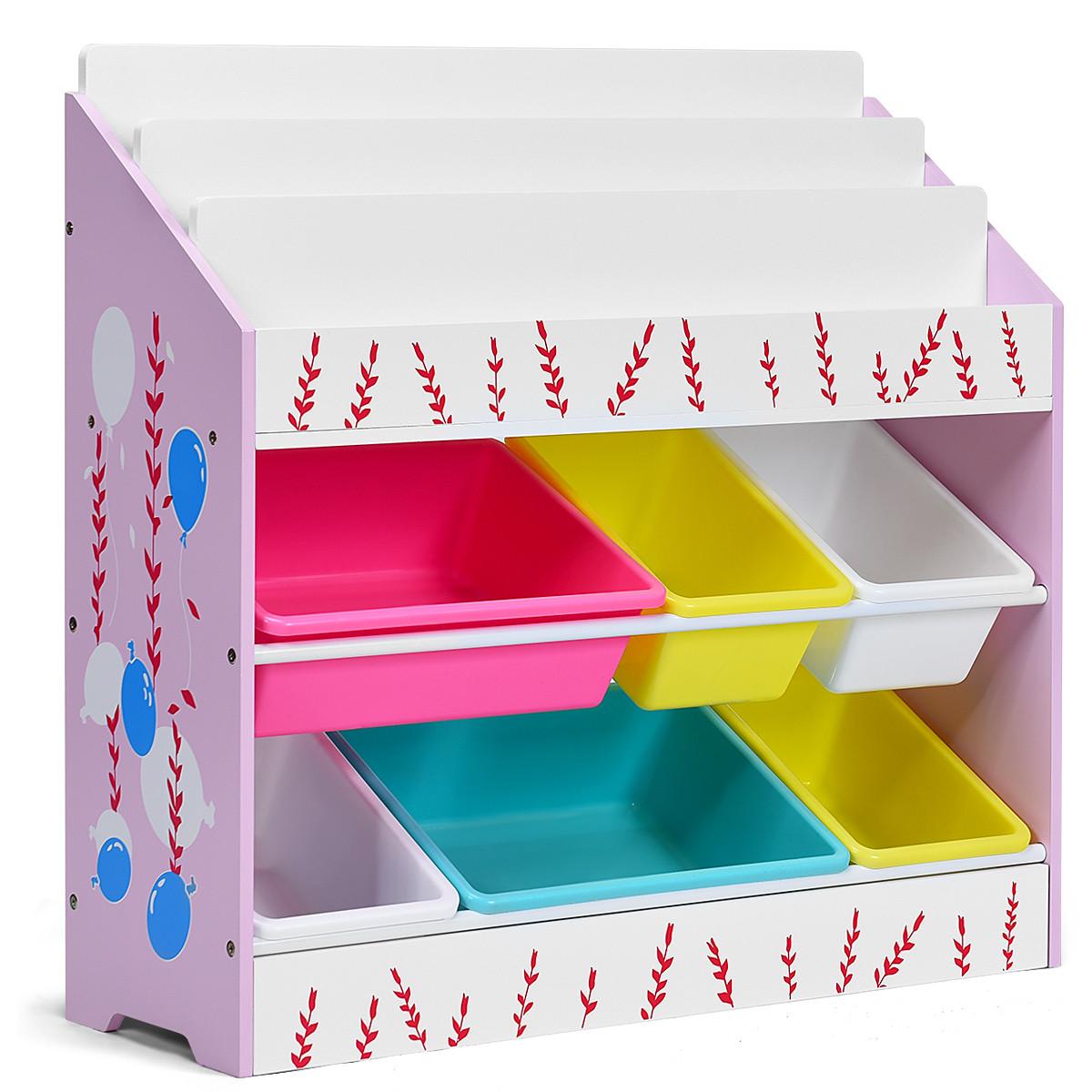 Bedroom Storage Bins  Costway Kids Toy Storage Organizer Children Storage Bins