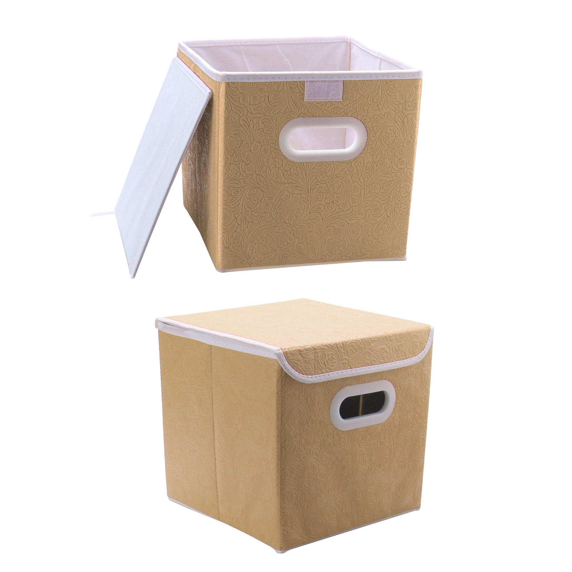 Bedroom Storage Bins  Fabric Storage Bins Cubes Toy Baskets for Bedroom Nursery