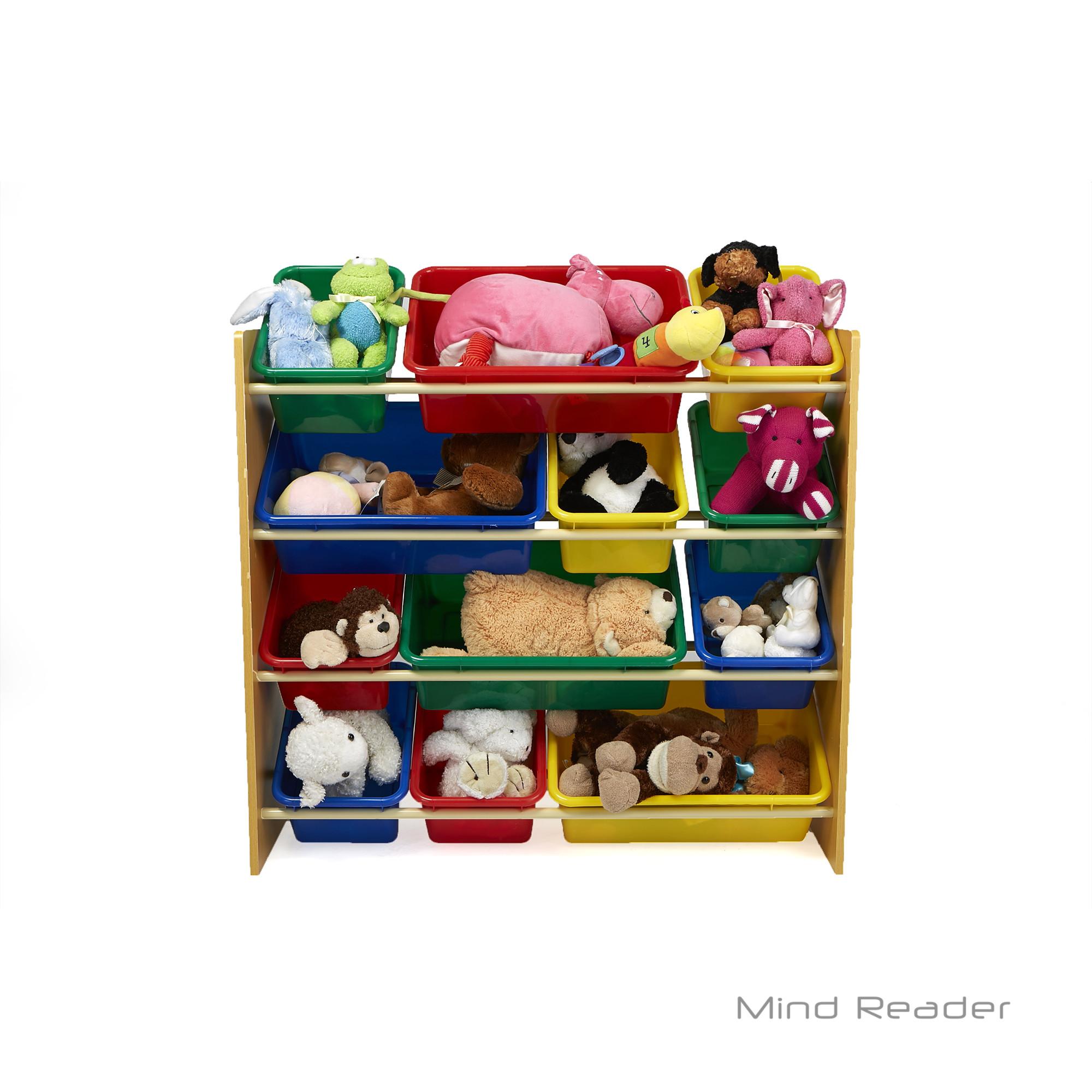 Bedroom Storage Bins  Mind Reader Toy Storage Organizer with 12 Storage Bins