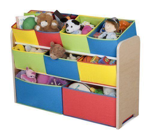 Bedroom Storage Bins  New Colorful Toy Organizer with Storage Bins for Kids