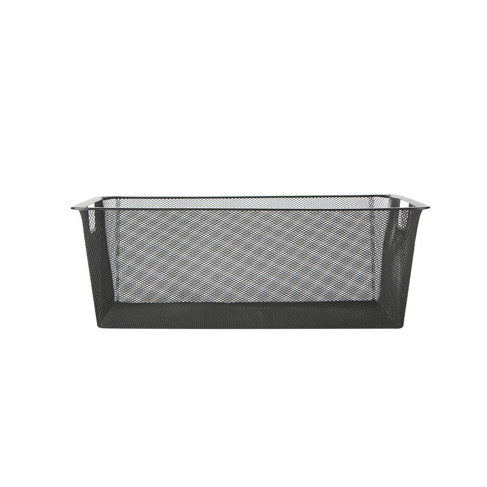 Bedroom Storage Bins  Mind Reader Mesh Storage Basket with Handle Storage Bin