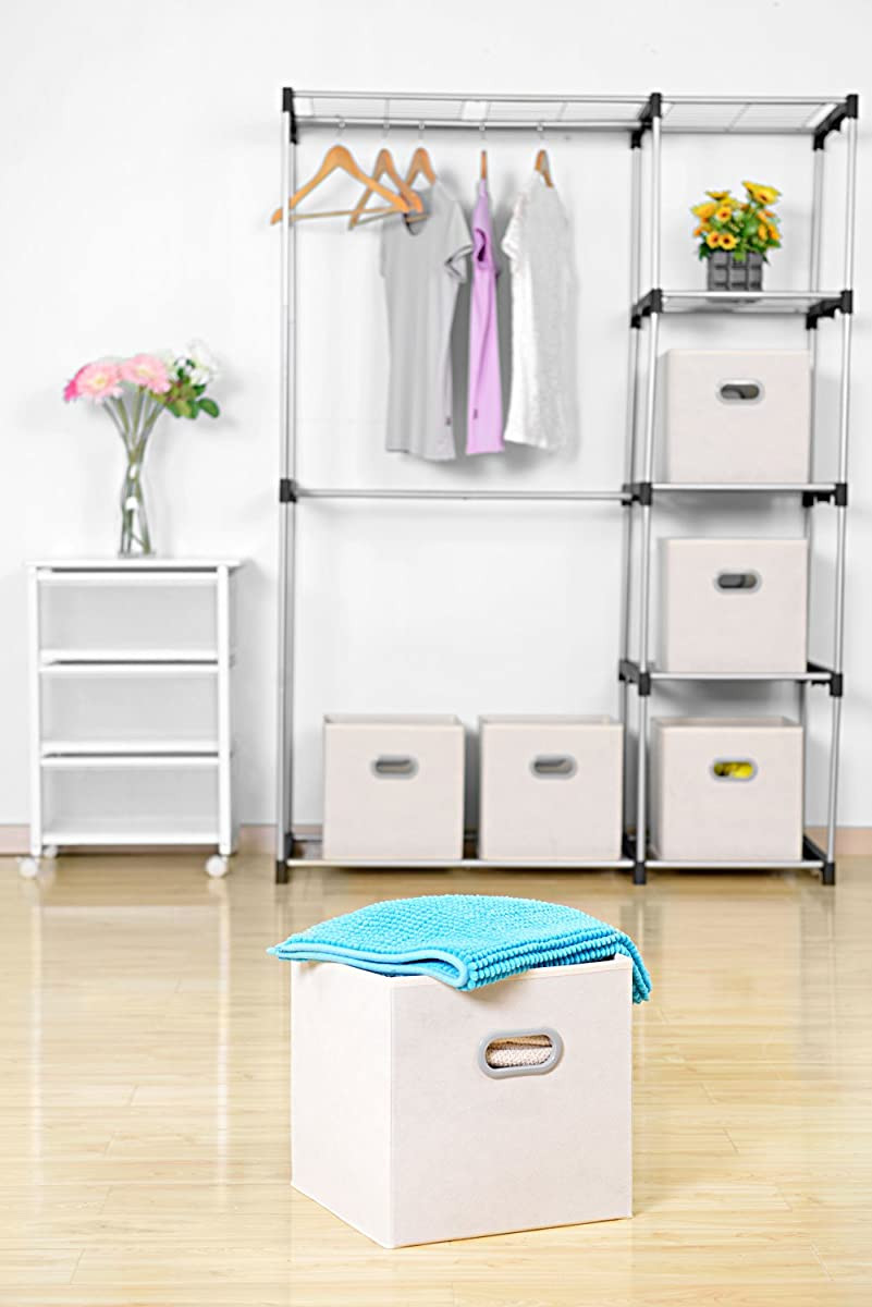 Bedroom Storage Bins  MaidMAX Cloth Storage Bins Cubes Baskets Containers with
