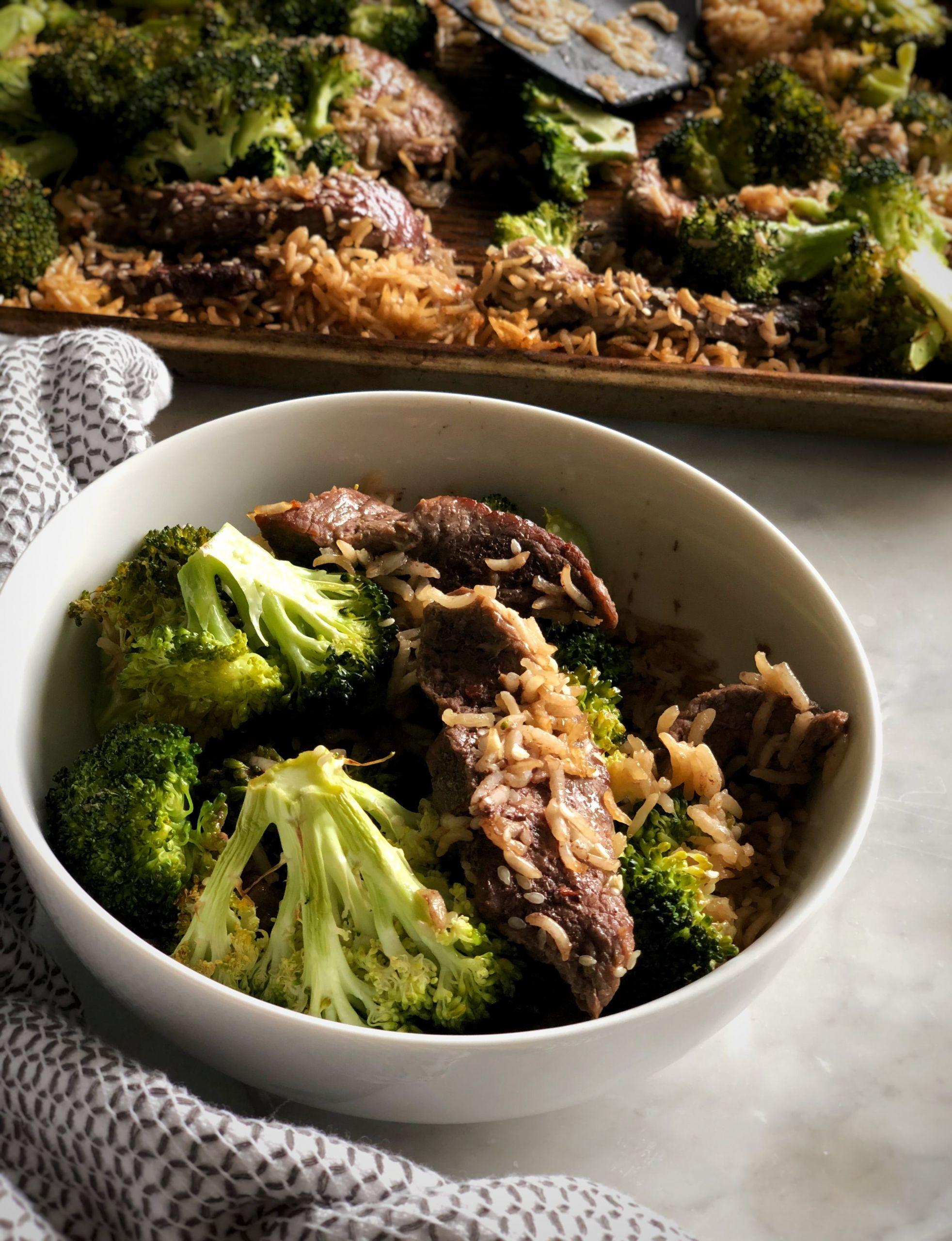 Beef Sheet Pan Dinners  Sheet Pan Beef and Broccoli