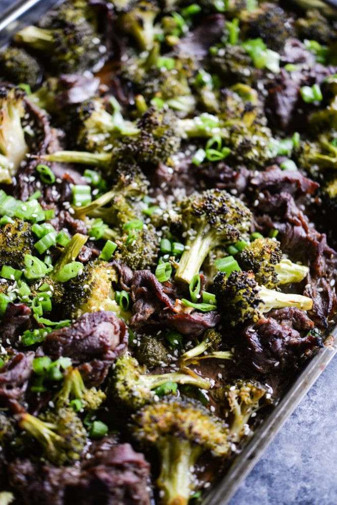 Beef Sheet Pan Dinners  Teriyaki Beef Sheet Pan Dinner Fed & Fit