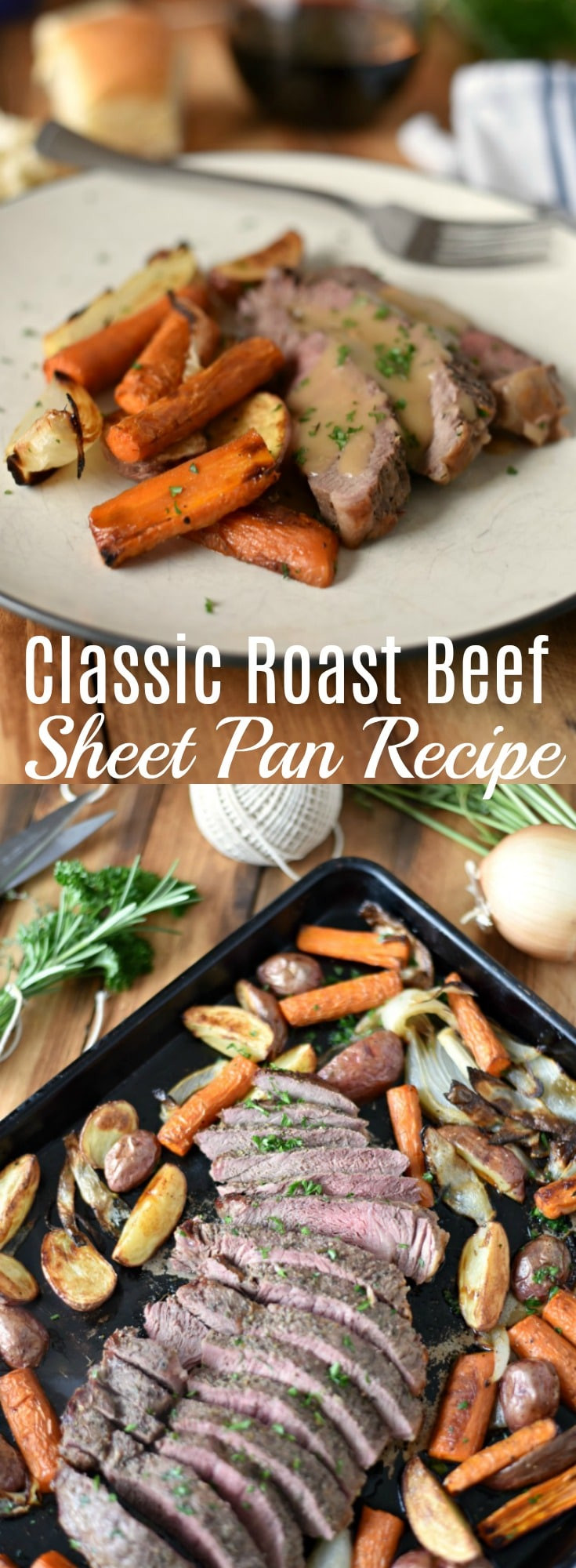 Beef Sheet Pan Dinners  Classic Roast Beef Sheet Pan The Gingered Whisk