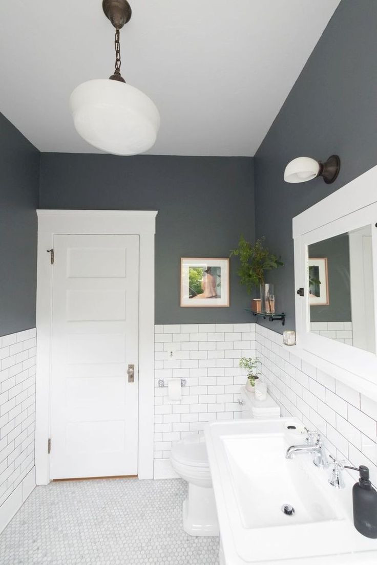 Best Bathroom Paint Colors 2020  30 Best Gray and White Bathroom ideas for 2019 Re ended