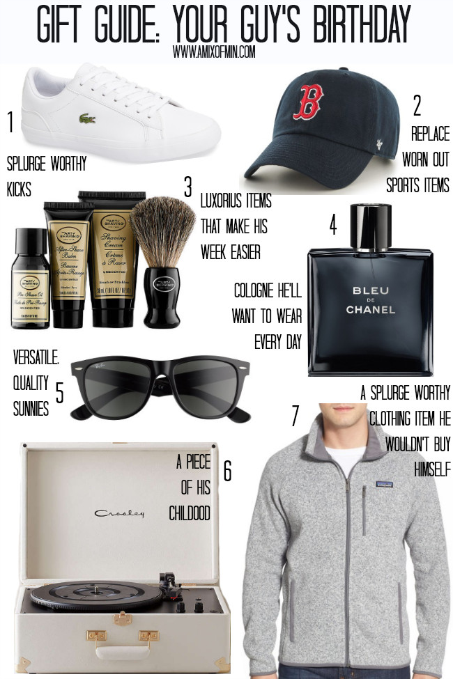 Best Birthday Gift Ideas For Husband  Gift Guide Your Guy s Birthday A Mix of Min