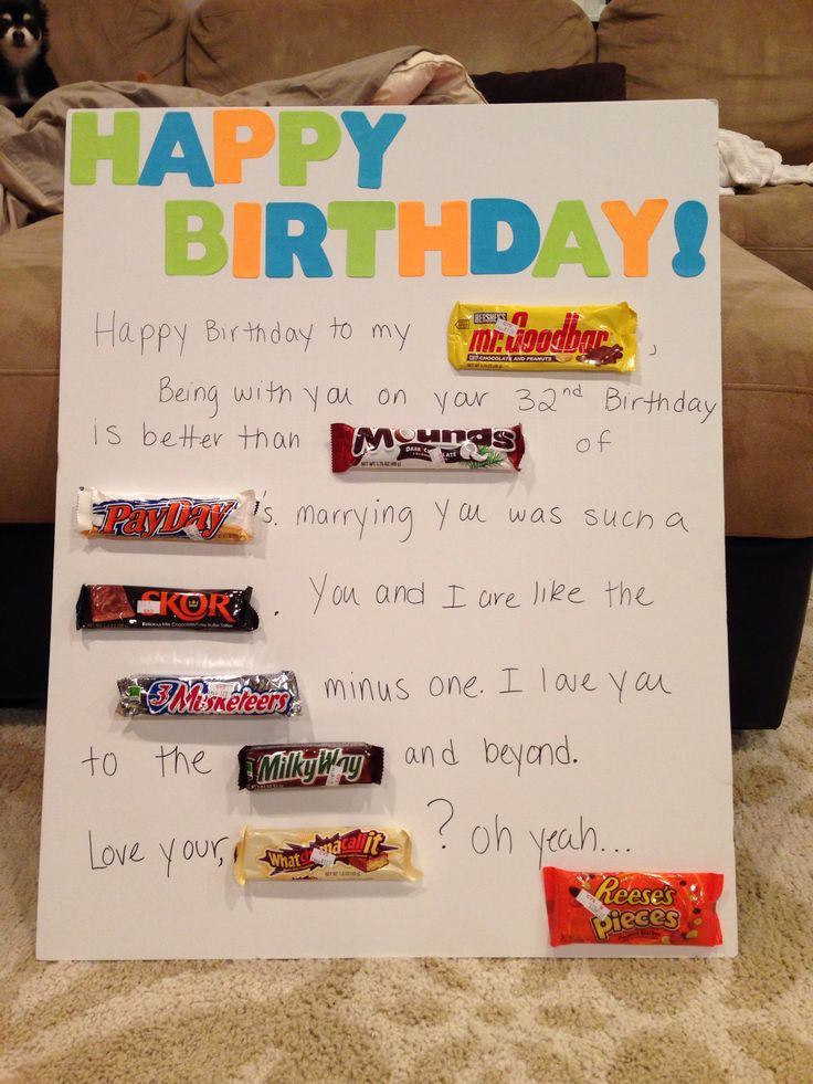 Best Birthday Gift Ideas For Husband  66 best Candy cards images on Pinterest