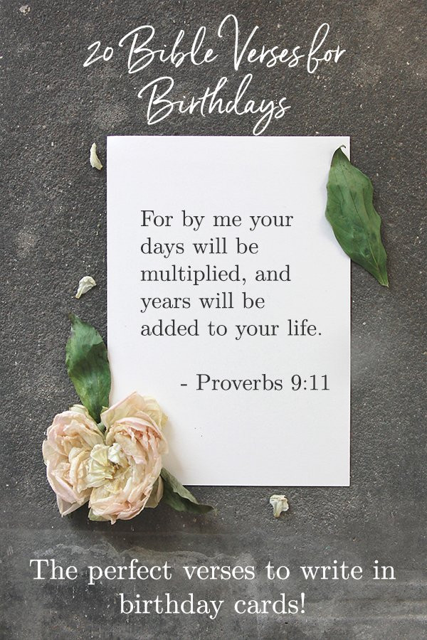 Bible Quotes About Birthdays  20 Best Bible Verses for Birthdays Celebrate Birth with