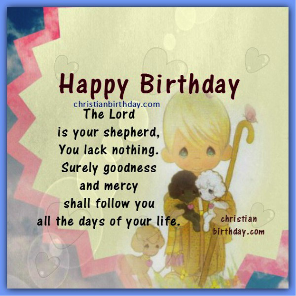 Bible Quotes About Birthdays  Christian Birthday Greetings Bible Verses