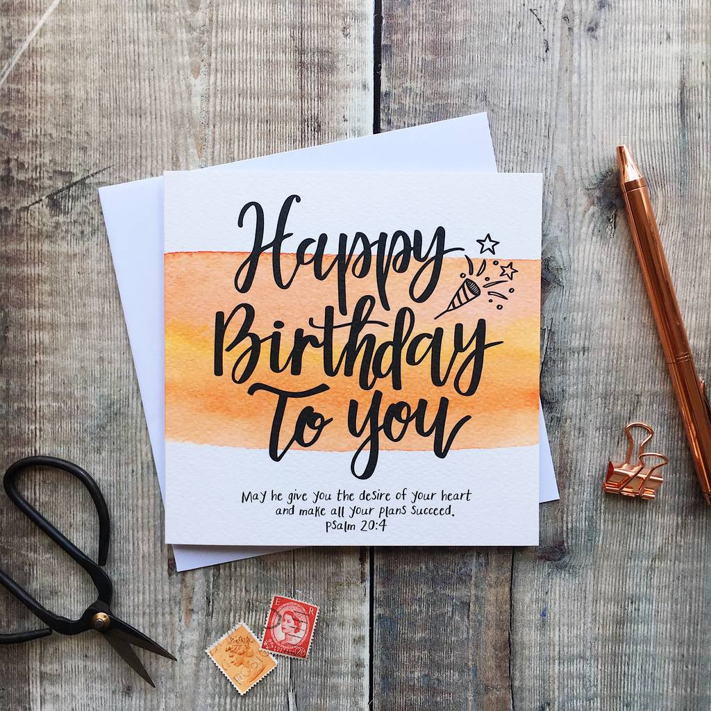 Bible Quotes About Birthdays  happy birthday bible verse card by izzy & pop