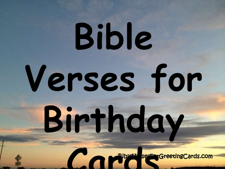 Bible Quotes About Birthdays  Bible Verses for Birthday Cards