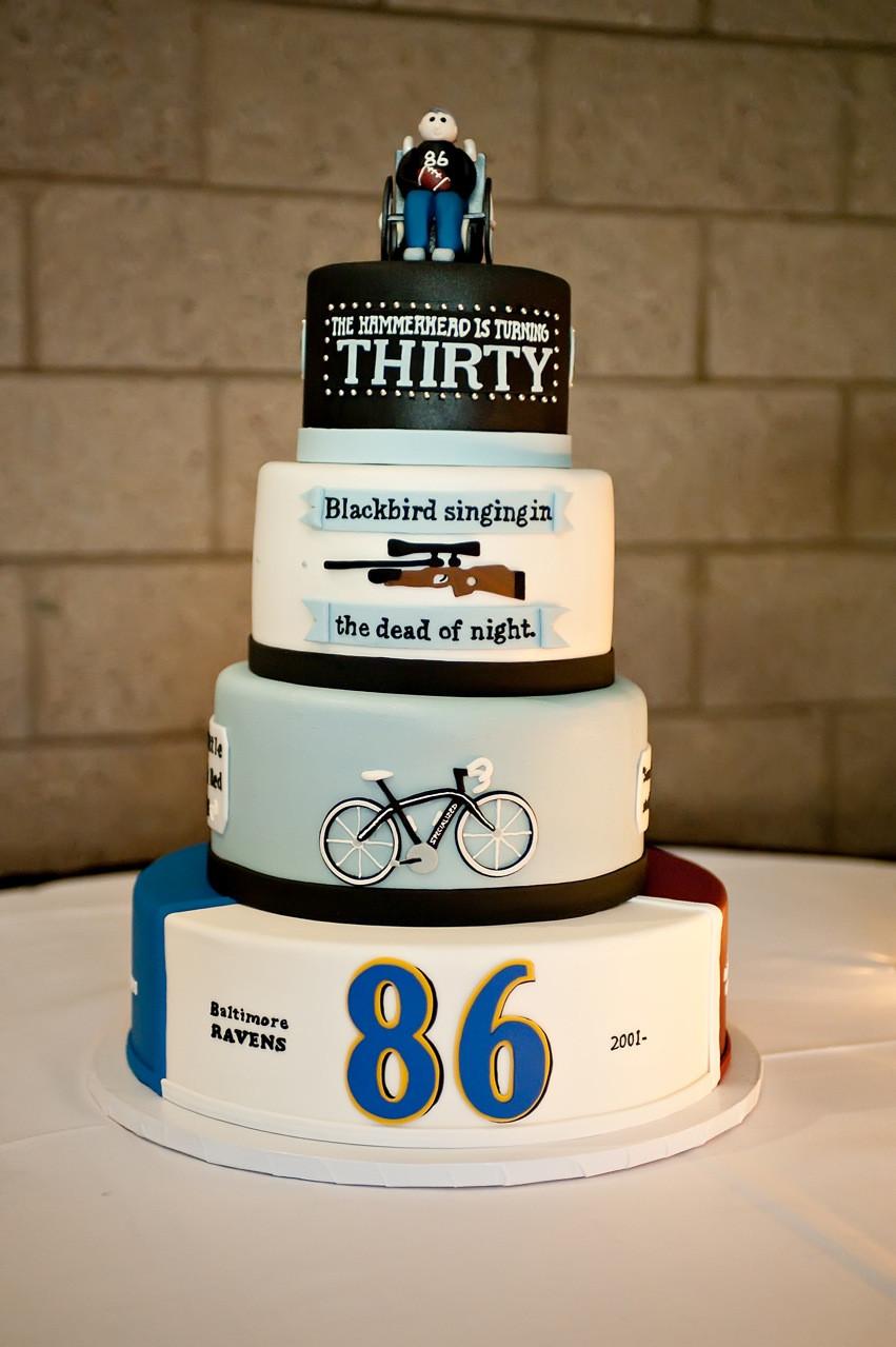 Birthday Cake Sayings  The Good Apple Todd Heap 30th Birthday Cake