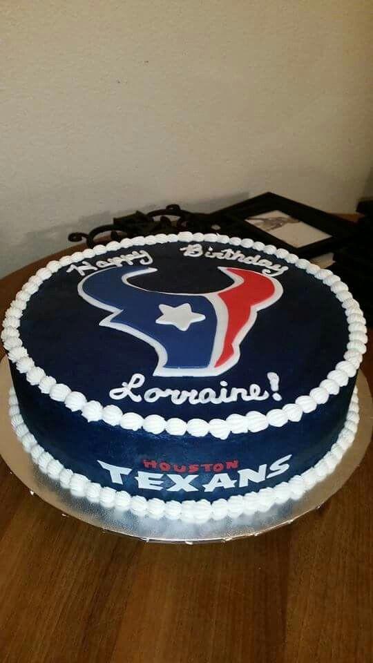 Birthday Cakes Houston  Houston Texans cake Cakes by Grace Pinterest