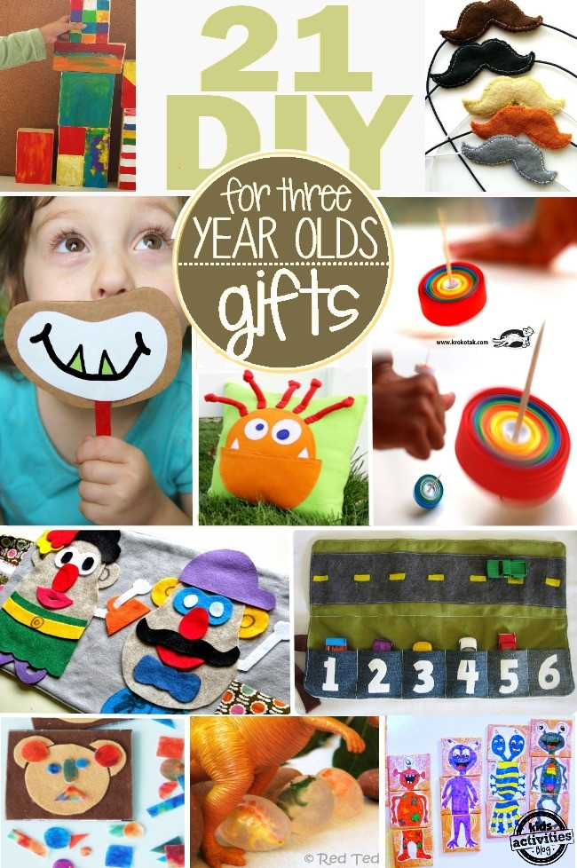 Birthday Gift Ideas 3 Year Old Boy  21 HOMEMADE GIFTS FOR 3 YEAR OLDS THEY CAN HELP TOO