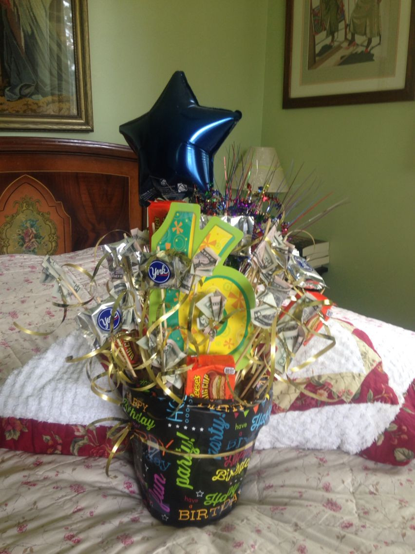 Birthday Gift Ideas For 16 Year Old Girl  16 th birthday bouquet with money & candy s