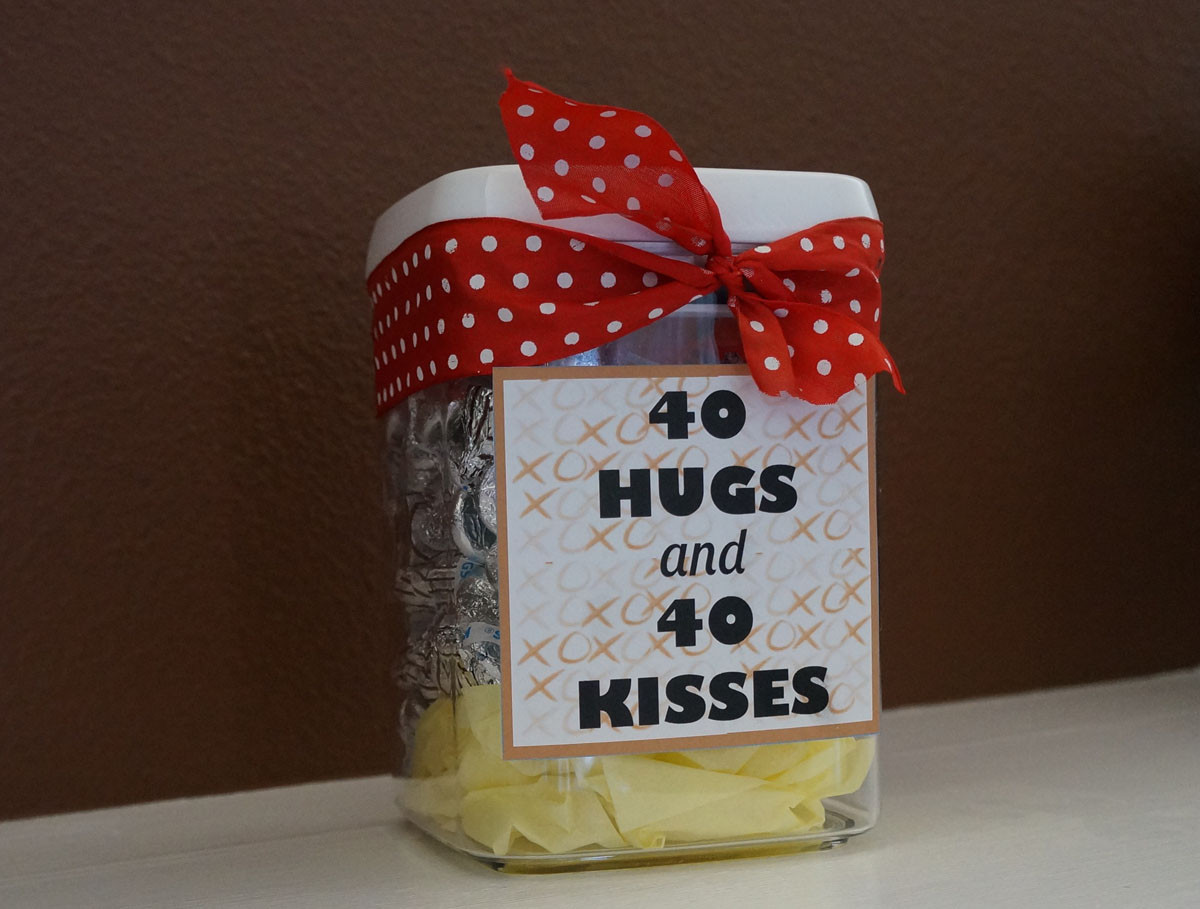 Birthday Gift Ideas For Friend Woman  Home Confetti Quick and Easy 40th Birthday Gift