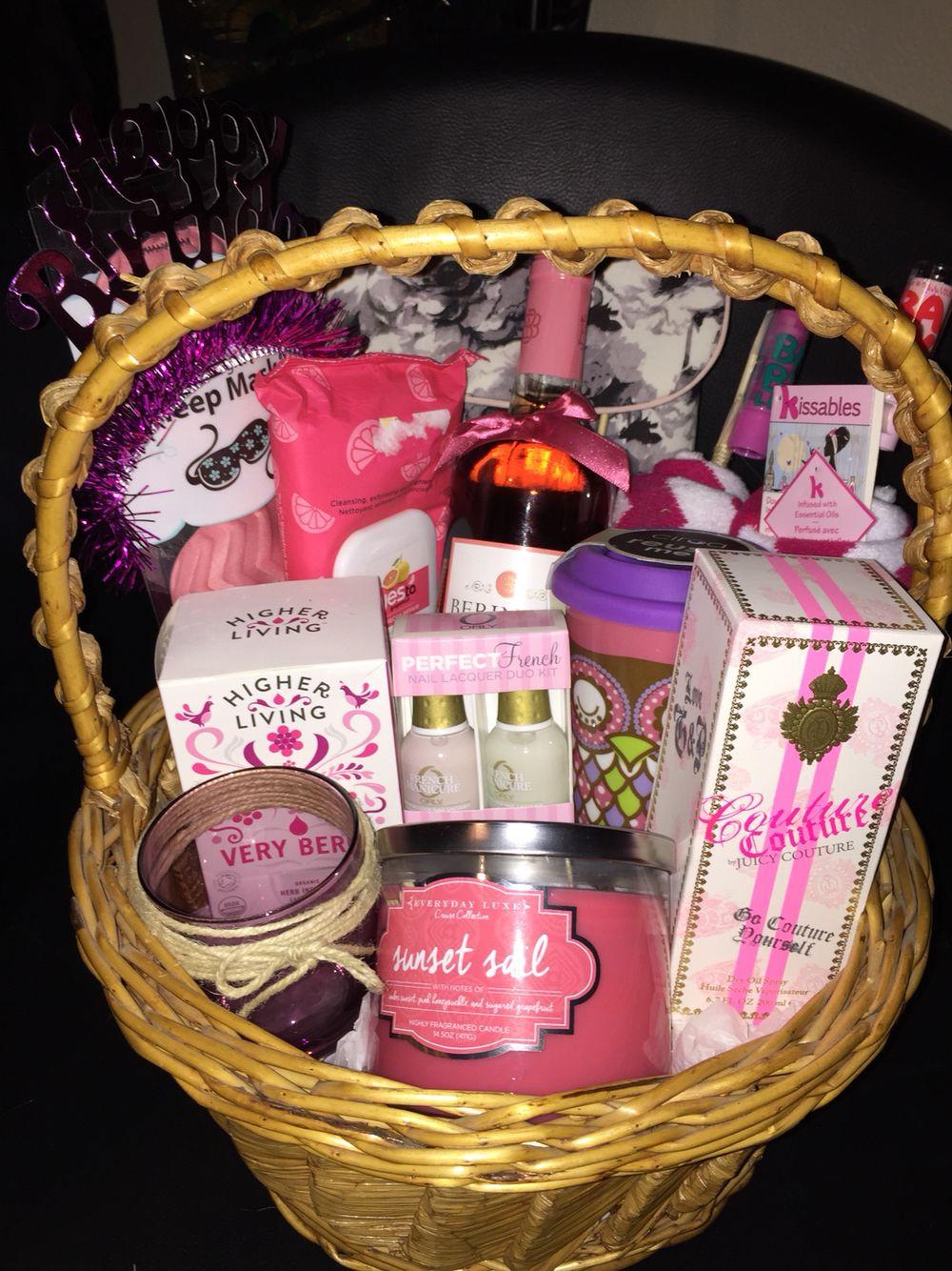 Birthday Gift Ideas For Friend Woman  Gift basket I made for my friend s twenty first birthday