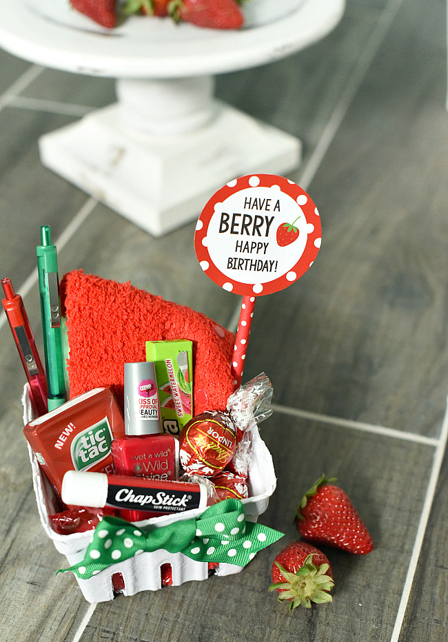 Birthday Gift Ideas For Friend Woman  Berry Gift Idea for Friends or Teachers – Fun Squared