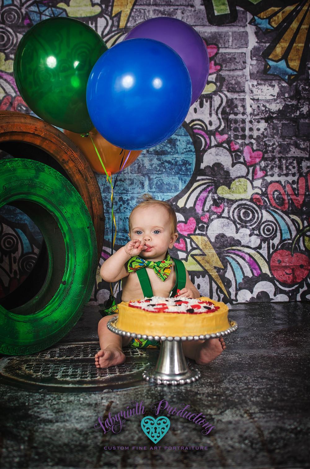 Birthday Party Ideas Virginia Beach  kai tmnt teenage mutant ninja turtle cake smash 1st with