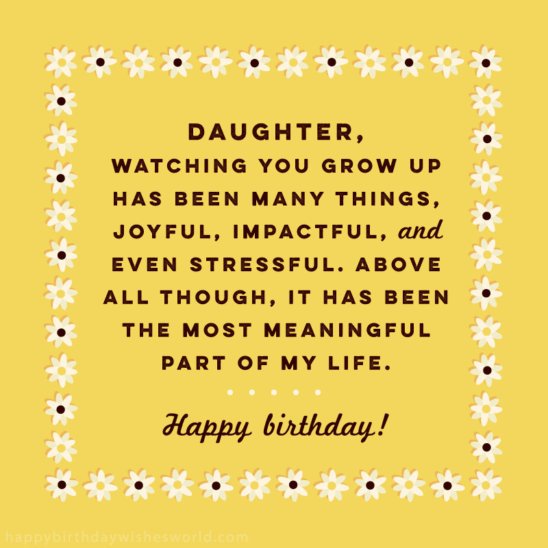 Birthday Quotes To Daughter  100 Birthday Wishes for Daughters Find the perfect