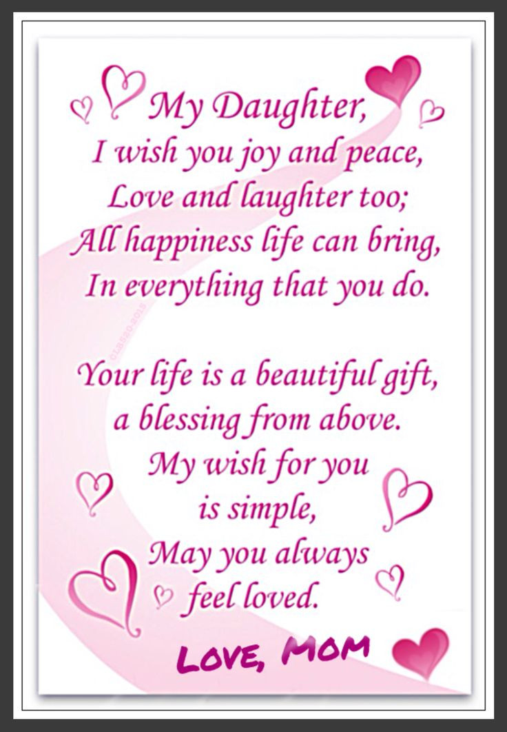 Birthday Quotes To Daughter  annies home Happy Birthday To My Daughter
