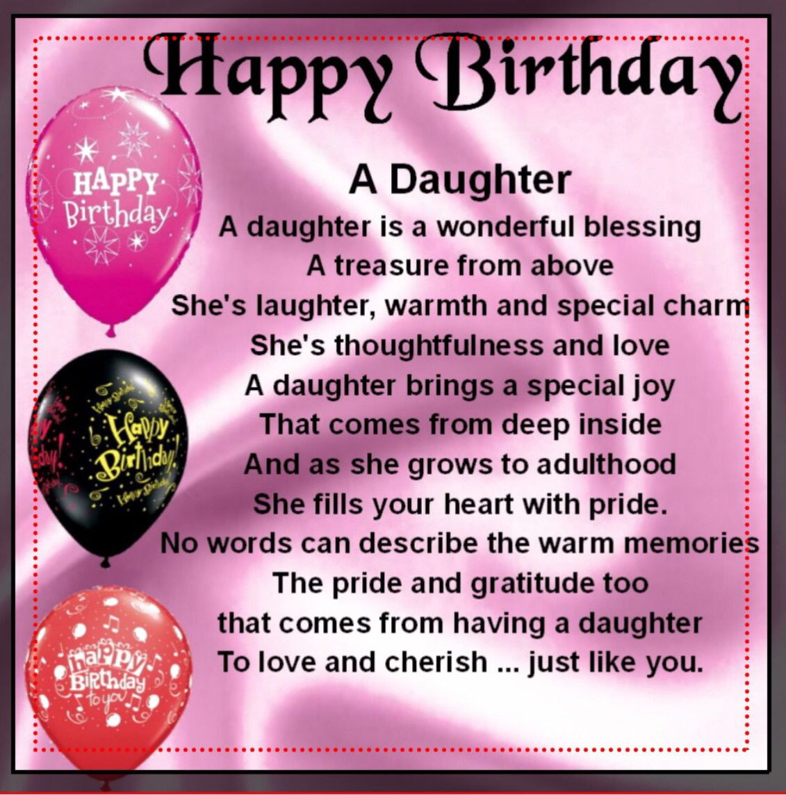 Birthday Quotes To Daughter  Birthday Quotes For Daughter