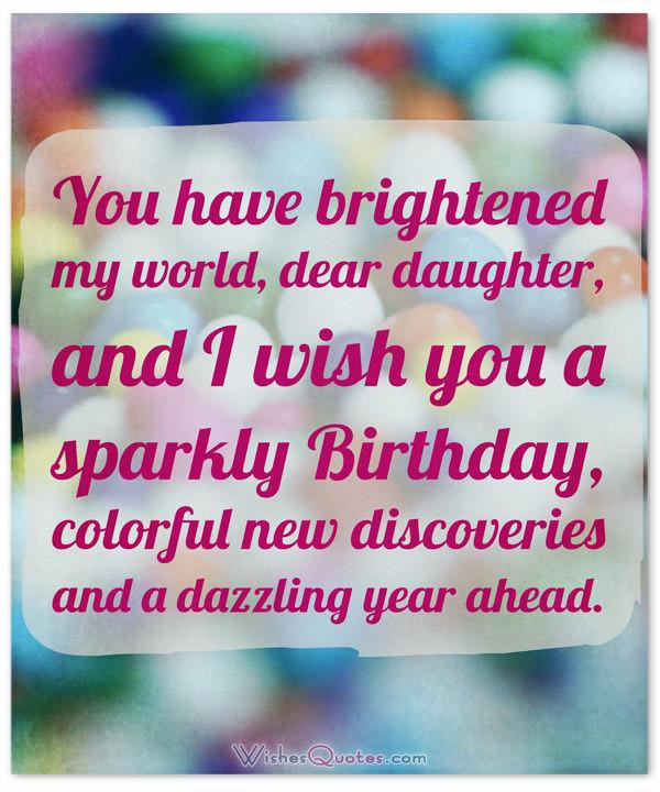 Birthday Quotes To Daughter  Happy Birthday Daughter Top 50 Daughter s Birthday Wishes