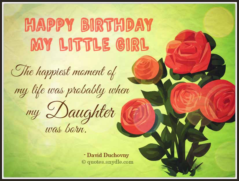 Birthday Quotes To Daughter  Birthday Quotes for Daughter Quotes and Sayings