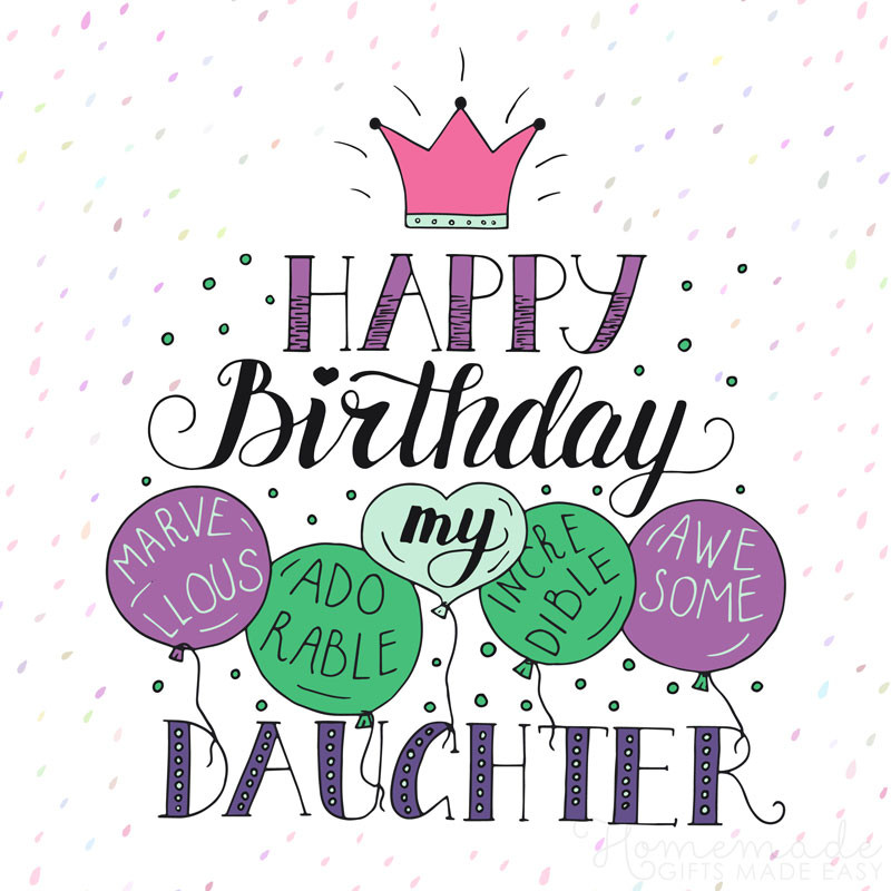 Birthday Quotes To Daughter  85 Happy Birthday Wishes for Daughters Best Messages