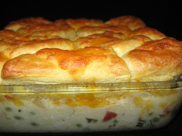 Biscuit Casserole Recipes  Potsies Creamed Chicken And Biscuits Casserole Recipe