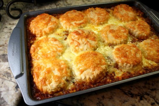 Biscuit Casserole Recipes  Biscuit Topped Ground Beef Casserole