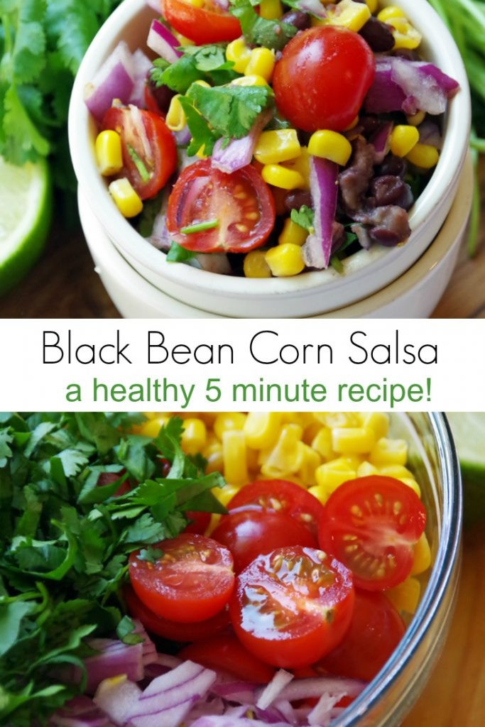 Black Bean Salsa Recipe Easy  Easy Black Bean Corn Salsa Recipe Suburbia Unwrapped