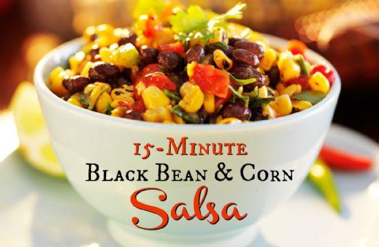 Black Bean Salsa Recipe Easy  15 Minute Black Bean and Corn Salsa Recipe